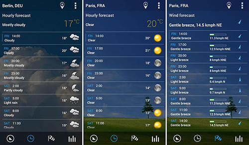 Baixar grátis Transparent clock and weather para Android. Programas para celulares e tablets.