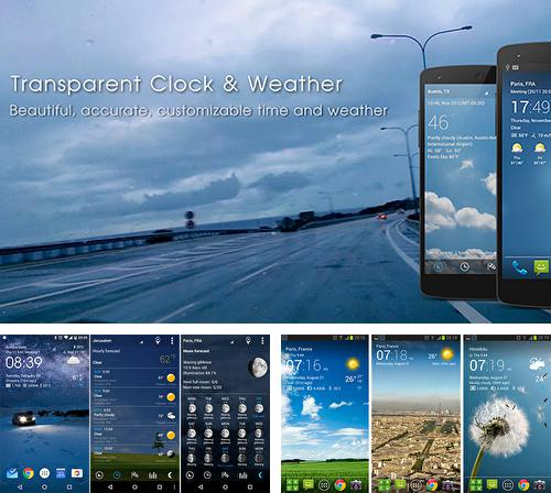 Besides Droid hardware info Android program you can download Transparent clock and weather for Android phone or tablet for free.