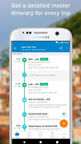 TripIt: Travel organizer app for Android, download programs for phones and tablets for free.