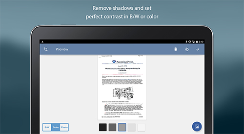 Download TurboScan: Document scanner for Android for free. Apps for phones and tablets.