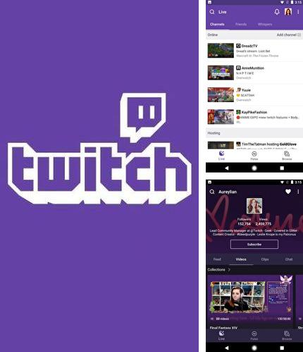 Besides Radiogram - Ad free radio Android program you can download Twitch for Android phone or tablet for free.