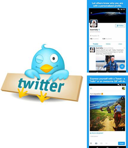 Besides QIWI card Android program you can download Twitter for Android phone or tablet for free.