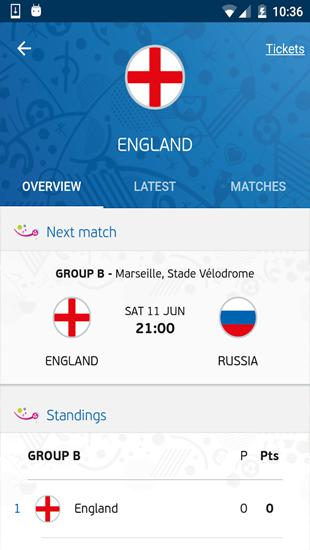 UEFA Euro 2016: Official App app for Android, download programs for phones and tablets for free.
