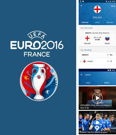Besides CM security: Antivirus applock Android program you can download UEFA Euro 2016: Official App for Android phone or tablet for free.
