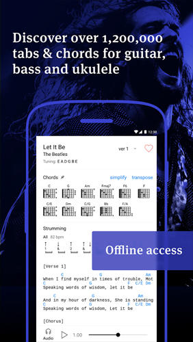 Descargar gratis Ultimate Guitar: Tabs and Chords para Android. Programas para teléfonos y tabletas.
