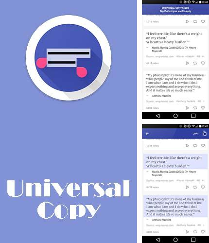 Download Universal copy for Android phones and tablets.
