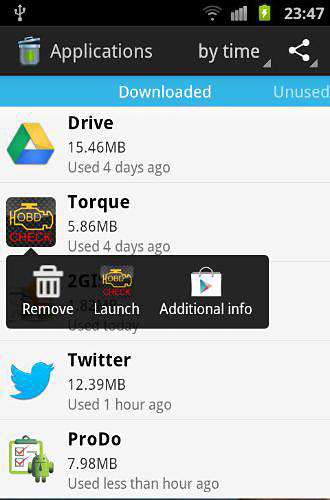 Download Unused app remover for Android for free. Apps for phones and tablets.