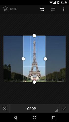 Screenshots des Programms Vertical gallery für Android-Smartphones oder Tablets.