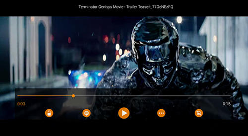 Screenshots des Programms VLC media player für Android-Smartphones oder Tablets.