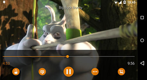Les captures d'écran du programme VLC media player pour le portable ou la tablette Android.