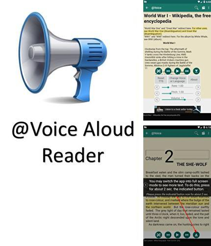 Besides Zone AssistiveTouch Android program you can download Voice aloud reader for Android phone or tablet for free.