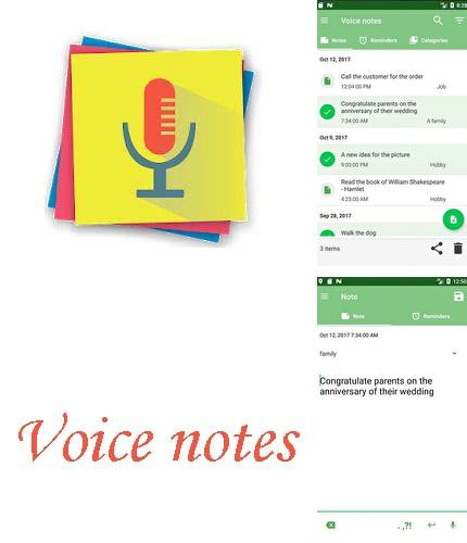 Descargar gratis Voice notes - Quick recording of ideas para Android. Apps para teléfonos y tabletas.