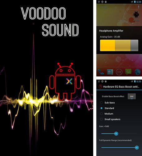Besides Flashlight Android program you can download Voodoo sound for Android phone or tablet for free.