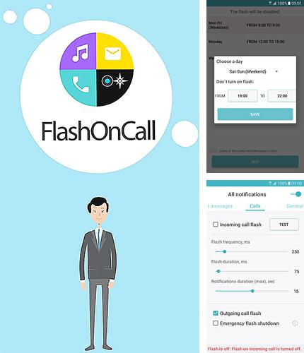 Besides Locker pro lockscreen 2 Android program you can download Flash on call for Android phone or tablet for free.