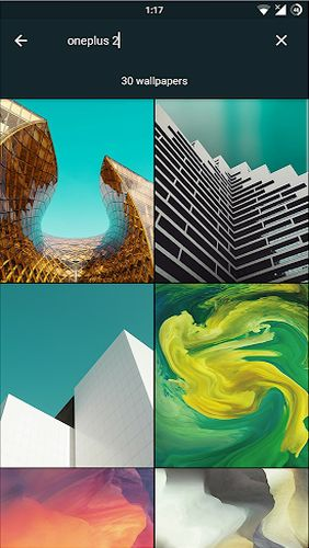 Les captures d'écran du programme CREATIVE: Wallpapers, ringtones and homescreen pour le portable ou la tablette Android.