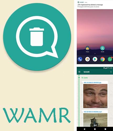 Descargar gratis WAMR - Recover deleted messages & status download para Android. Apps para teléfonos y tabletas.
