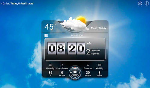 Screenshots des Programms Weather live für Android-Smartphones oder Tablets.