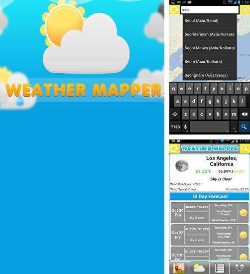 Besides Cold Launcher Android program you can download Weather Mapper for Android phone or tablet for free.