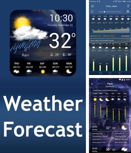 Además del programa Pure writer - Never lose content editor para Android, podrá descargar Weather forecast para teléfono o tableta Android.