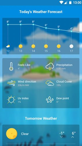 Les captures d'écran du programme Weather Wiz: Accurate weather forecast & widgets pour le portable ou la tablette Android.
