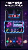Téécharger Neon weather forecast widget pour Android - le meilleur programme sur le portable et la tablette.