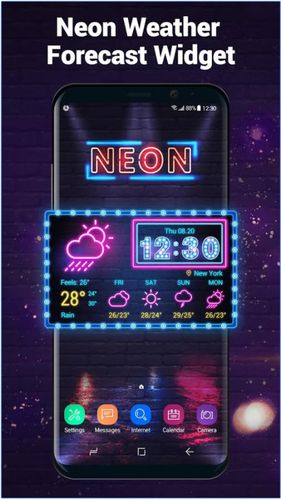 Neon weather forecast widget