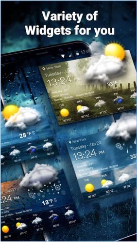 Neon weather forecast widget app for Android, download programs for phones and tablets for free.