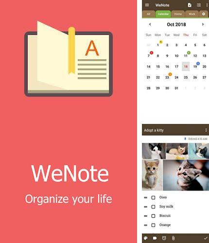 Besides Droid VPN Android program you can download WeNote - Color notes, to-do, reminders & calendar for Android phone or tablet for free.