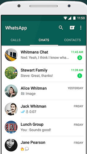 Download WhatsApp messenger for Android for free. Apps for phones and tablets.
