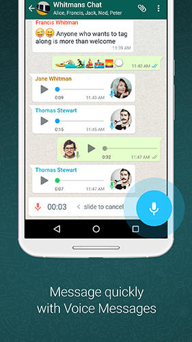 WhatsApp messenger app for Android, download programs for phones and tablets for free.