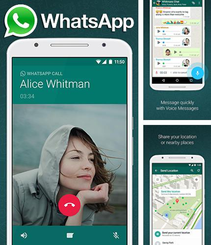 Besides AndroIRC Android program you can download WhatsApp messenger for Android phone or tablet for free.