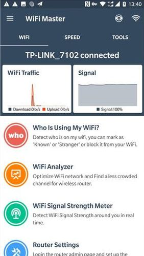 Download WiFi router master - WiFi analyzer & Speed test for Android for free. Apps for phones and tablets.