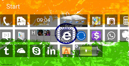 Capturas de tela do programa Windows 8+ launcher em celular ou tablete Android.