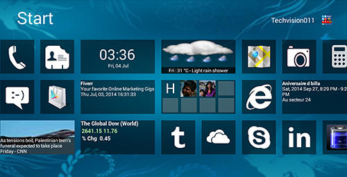 Screenshots des Programms Windows 8+ launcher für Android-Smartphones oder Tablets.