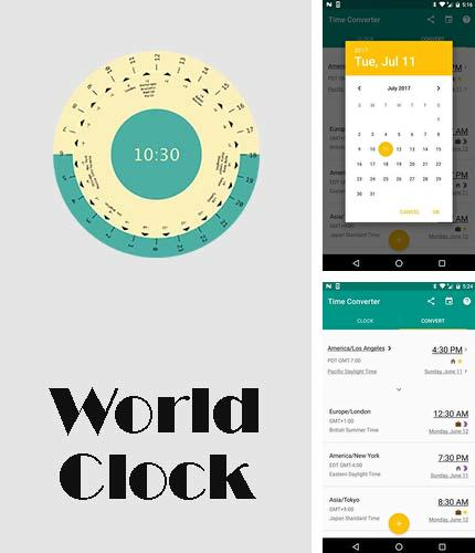 Besides Snapmod - Better screenshots mockup generator Android program you can download World clock for Android phone or tablet for free.