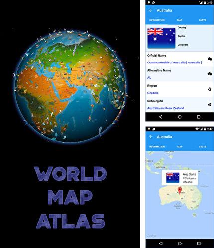 Download World map atlas for Android phones and tablets.