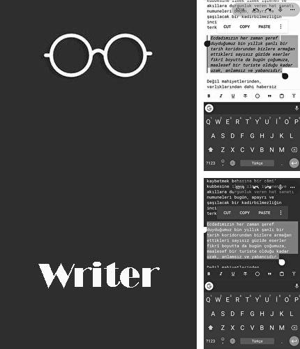 Besides Slack Android program you can download Writer for Android phone or tablet for free.