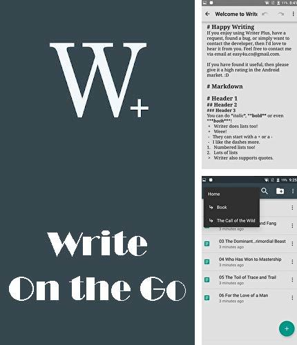 Descargar gratis Writer plus (Write on the go) para Android. Apps para teléfonos y tabletas.