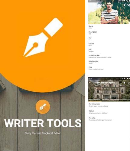 Descargar gratis Writer tools - Novel planner, tracker & rditor para Android. Apps para teléfonos y tabletas.