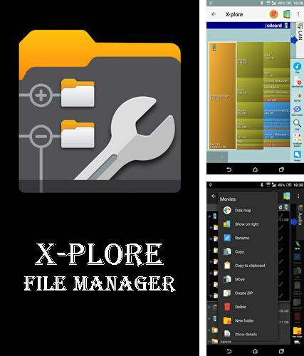 Besides Dynomaster Android program you can download X-plore file manager for Android phone or tablet for free.