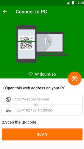 Screenshots of Xender - File transfer & share program for Android phone or tablet.
