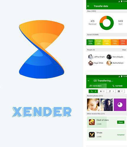 Besides iPhone keyboard emulator Android program you can download Xender - File transfer & share for Android phone or tablet for free.