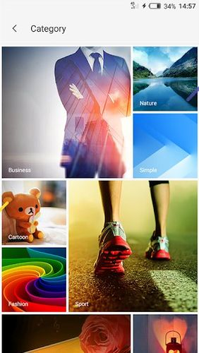 Screenshots of XOS - Launcher, theme, wallpaper program for Android phone or tablet.