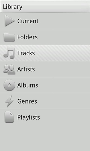 Screenshots of Xplay music player program for Android phone or tablet.