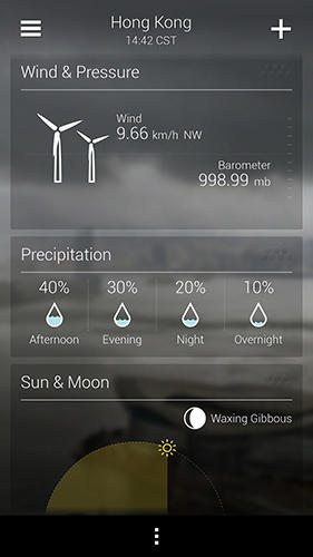 Yahoo weather app for Android, download programs for phones and tablets for free.