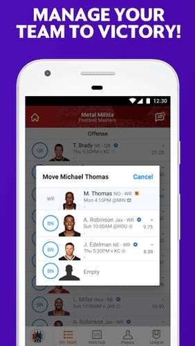 Yahoo fantasy sports app for Android, download programs for phones and tablets for free.