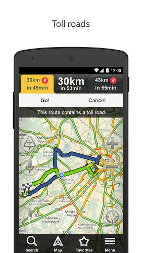 Download Yandex navigator for Android for free. Apps for phones and tablets.
