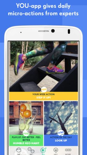 Screenshots des Programms YOU-app - Health & mindfulness für Android-Smartphones oder Tablets.