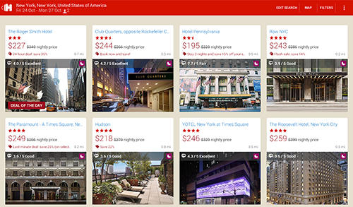Hotels.com: Hotel reservation app for Android, download programs for phones and tablets for free.