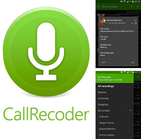 Besides My Web money Android program you can download Call Recorder for Android phone or tablet for free.